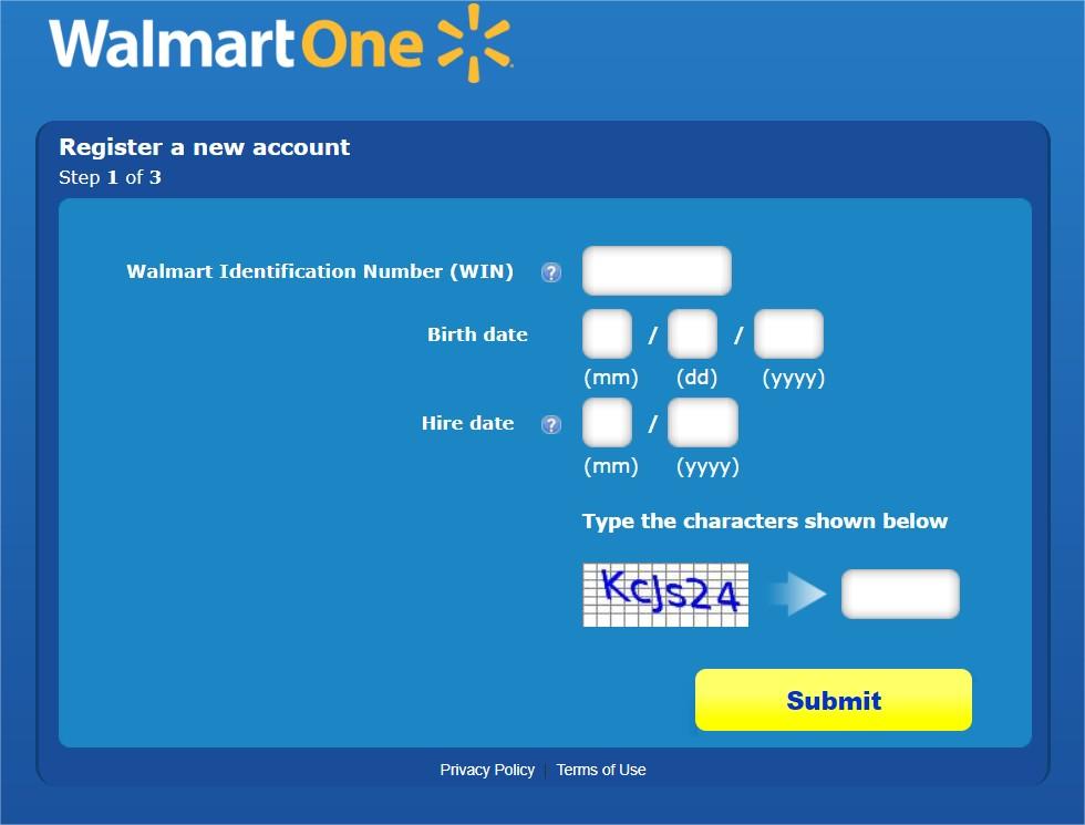 Walmartone login process