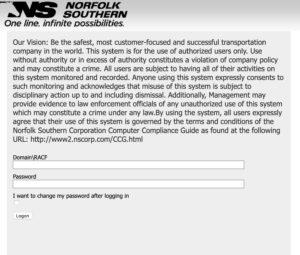 NSCORP Mainframe Login