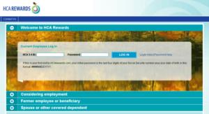 HCA Rewards Login Procedure
